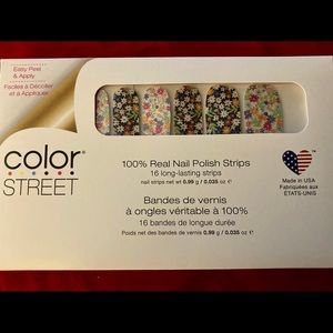 """RETIRED """"Daisy Me Rolling"""" Color Street Nail Strip"""